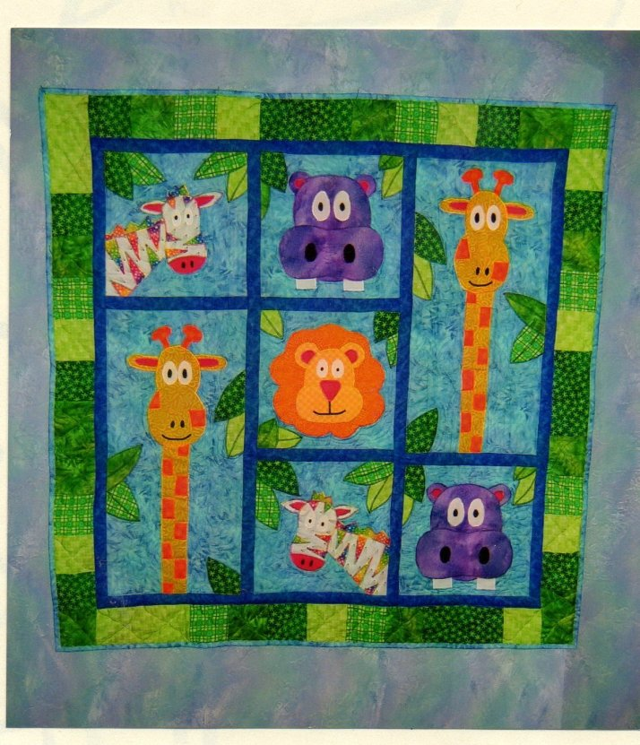 Jungle animal quilt
