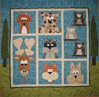 forest animal quilt