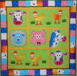 Farm animal quilt